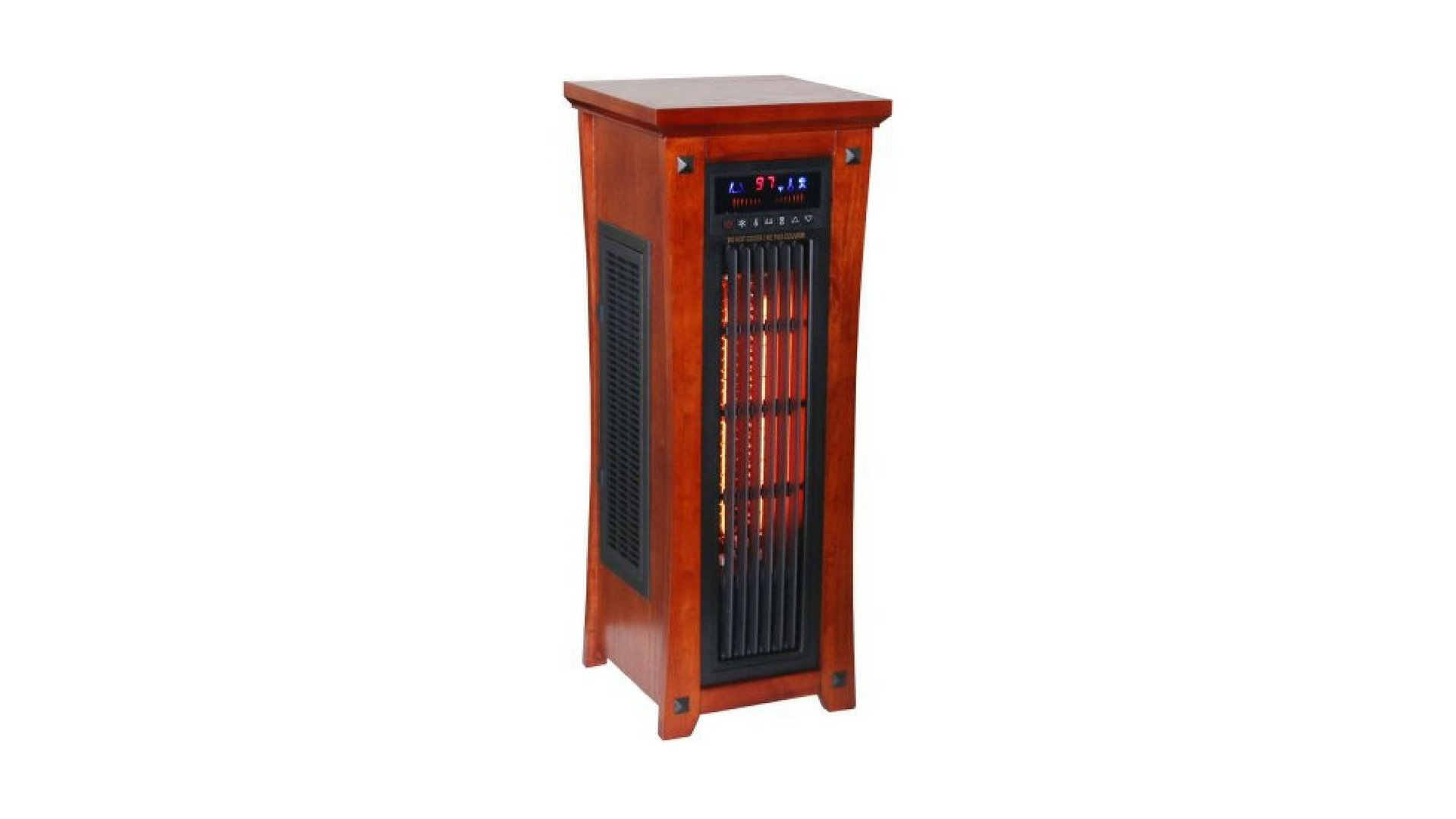 Full Function Remote Control Infrared Quartz Tower Heater with Oscillating Fan
