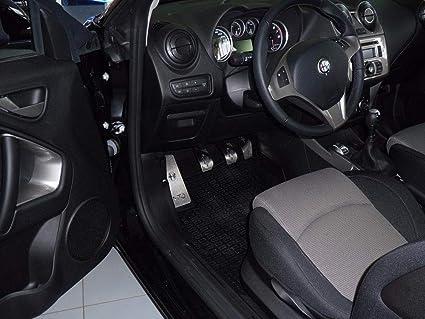 Pedali Con Poggiapiede In Acciaio per Alfa/_Romeo MITO 4 Pezzi Pedana Pedaliera Poggapiedi Pedaliere Sportiva Gas Copripedale Freno Frizione Tuning