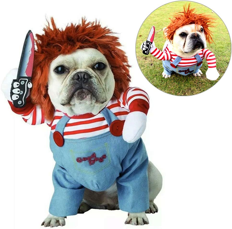 Amazon Com Tvmall Deadly Doll Dog Clothes Pets Costume Halloween