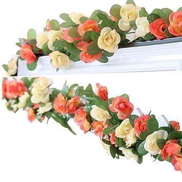 Lumenty 2 Guirnaldas Con Flores Artificiales Para Decorar En Casa