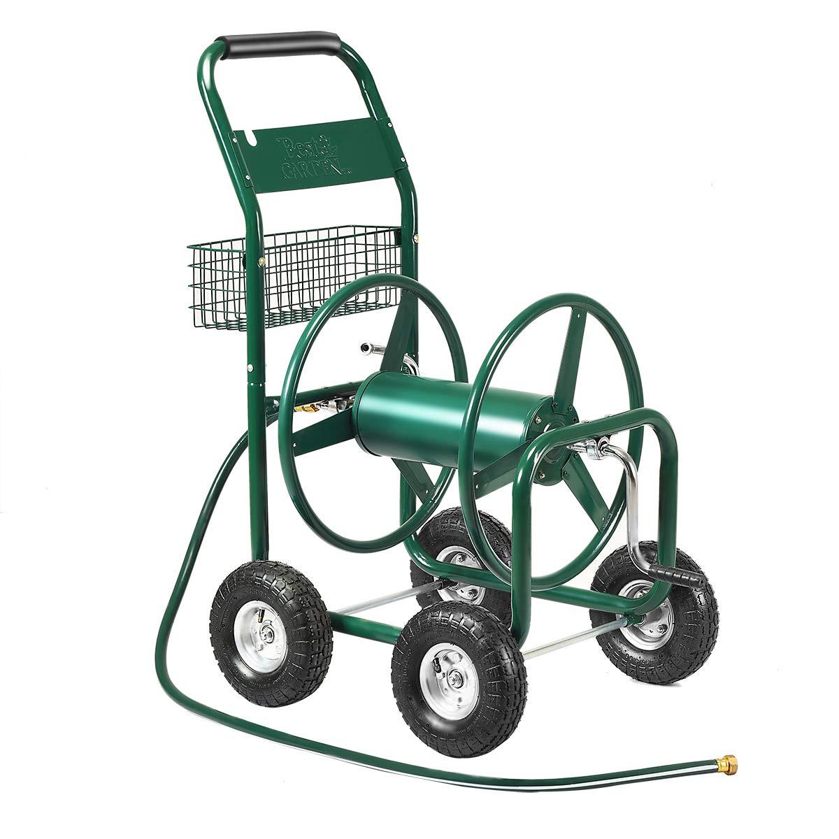 Giantex Garden Hose Reel Cart 4-Wheel Lawn Watering Outdoor Heavy Duty Yard Water Planting by Giantex