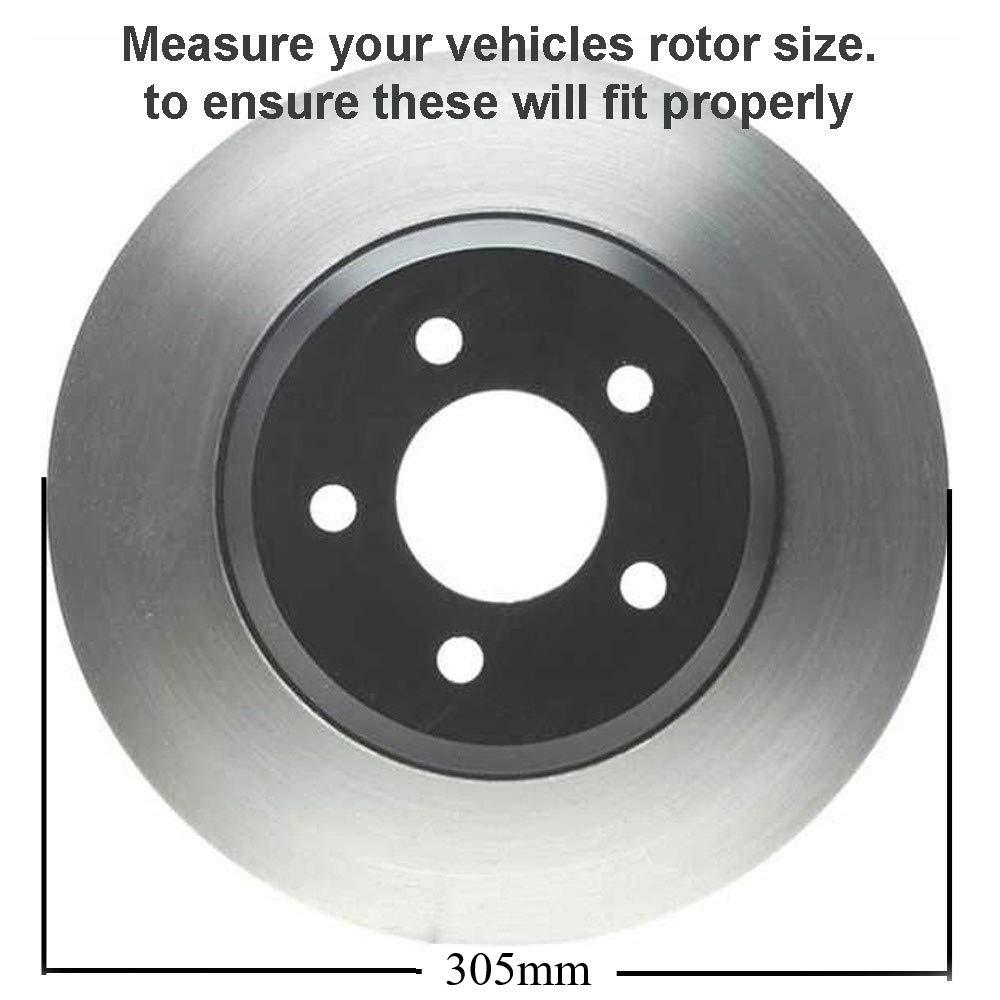 12 Detroit Axle 6-Lug Front Brake Rotors /& Ceramic Pads w//Clips Hardware for 1999-2006 Silverado//Sierra 1500 4-Wheel Disc Brake 305mm 02-06 Escalade//Avalanche - 01-06 Suburban, Yukon XL,Tahoe