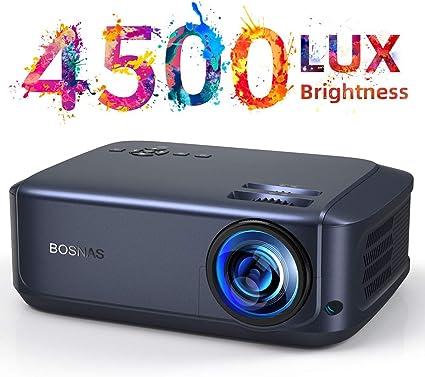 BOSNAS Proyector Full HD Soporta 1080P LCD Video Proyector Cine en ...
