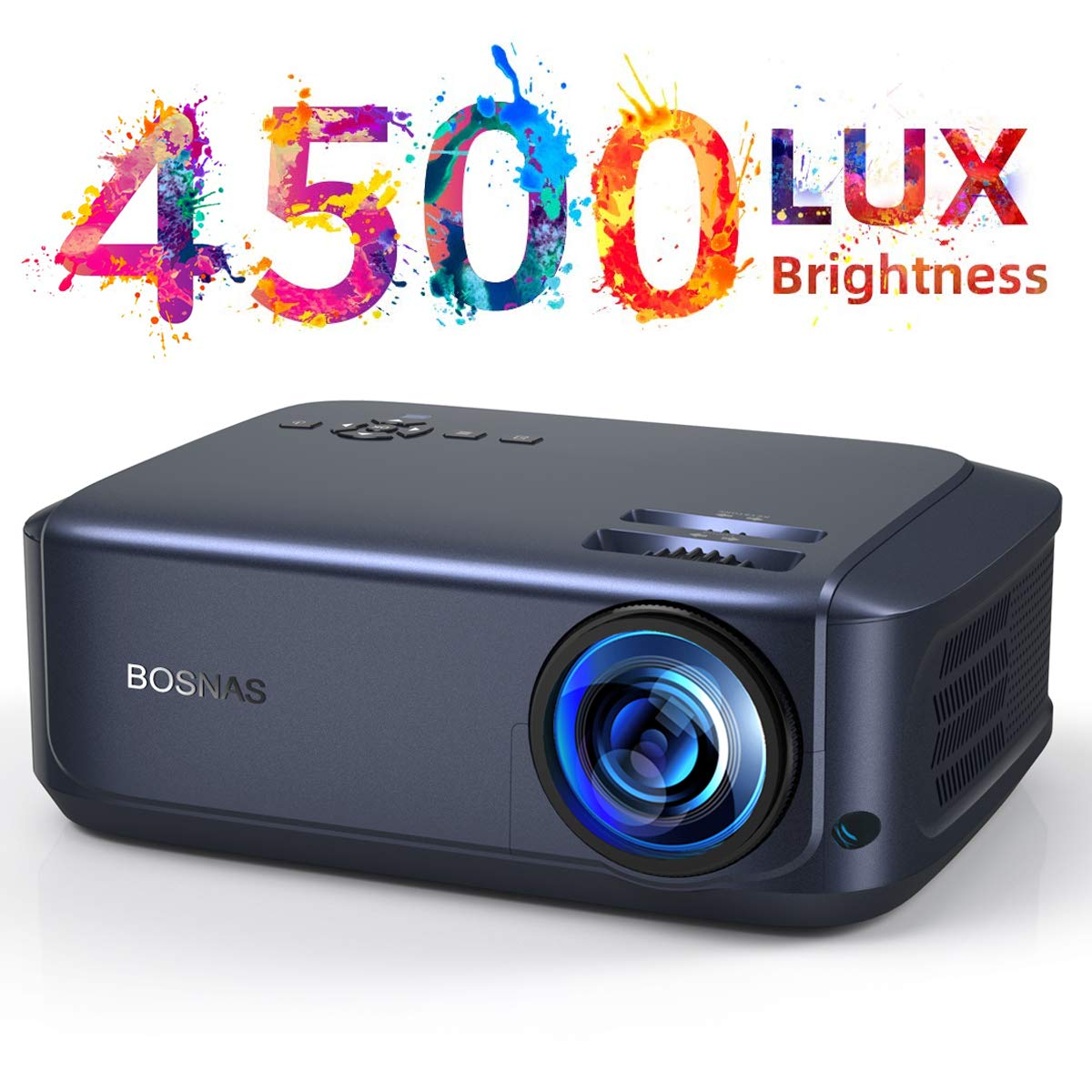 Proyector de Techo 4500 Lux Multimedia Full HD Home Cinema El proyector de Video soporta 1080P Full HD LED 50000 Horas Compatible con PC Laptop TV ...