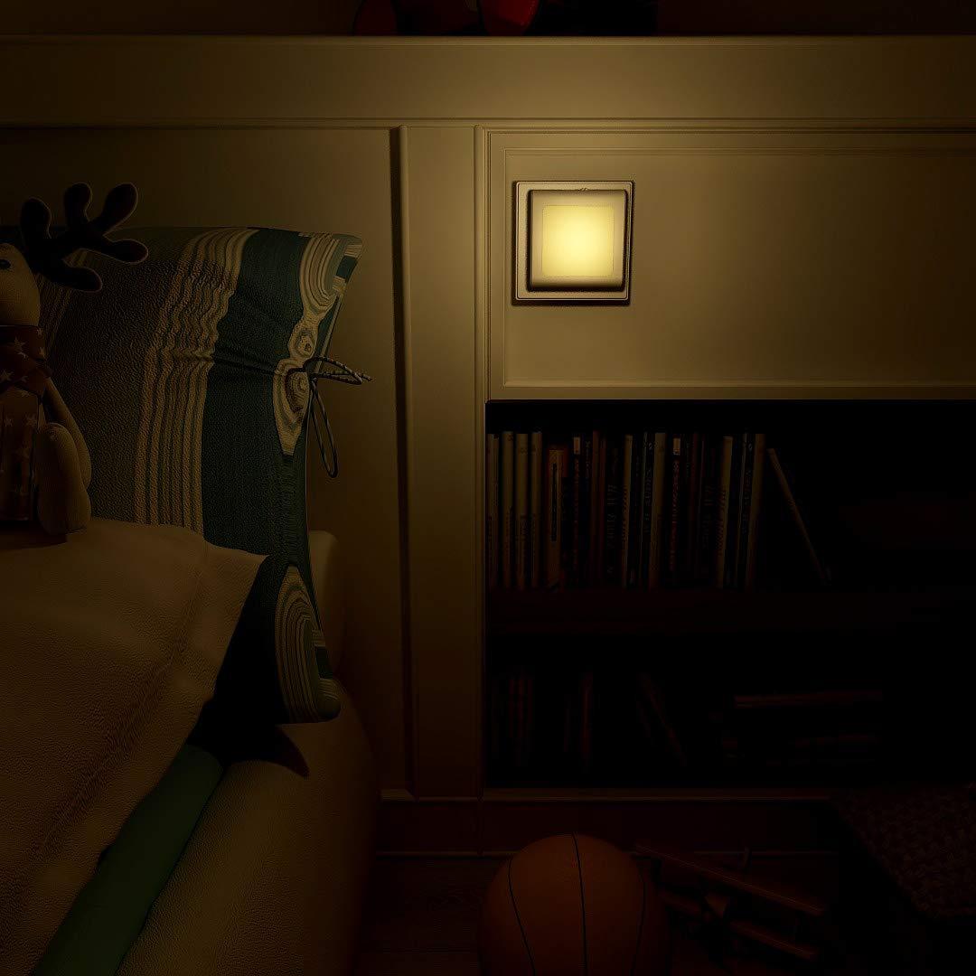 camera da letto cucina 2 pezzi 2700 K bianco caldo. Luce notturna presa con sensore crepuscolare luce di orientamento automatica per scale luminosit/à regolabile senza livelli preimpostati