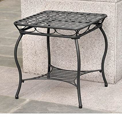 International Caravan Santa Fe Iron Nailhead Side Table