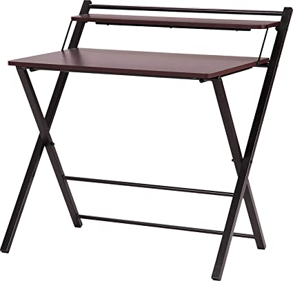 InnoFur Meleti Folding Table/Multi Purpose/Study Table/Adjustable Portable Laptop Table (Brown)