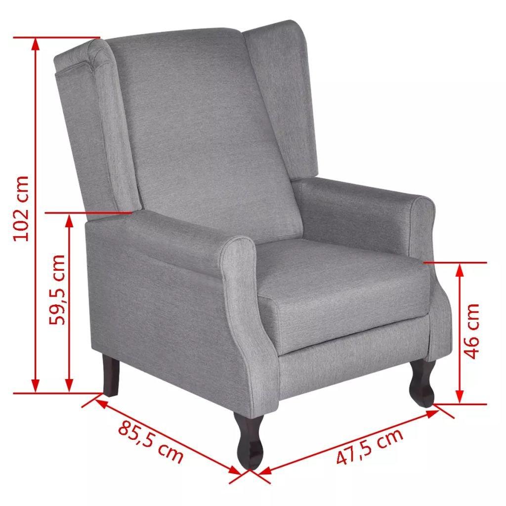 WEILANDEAL Sillon Ajustable de Tela Gris Sillon reclinable ...