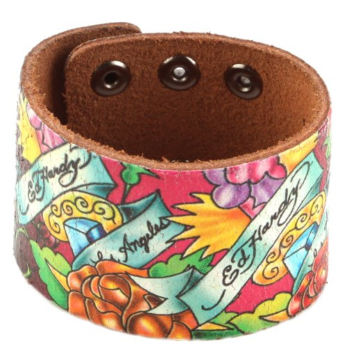 Ed Hardy EHHP3005 Rose Crackled Leather - Hardy Ed Leather