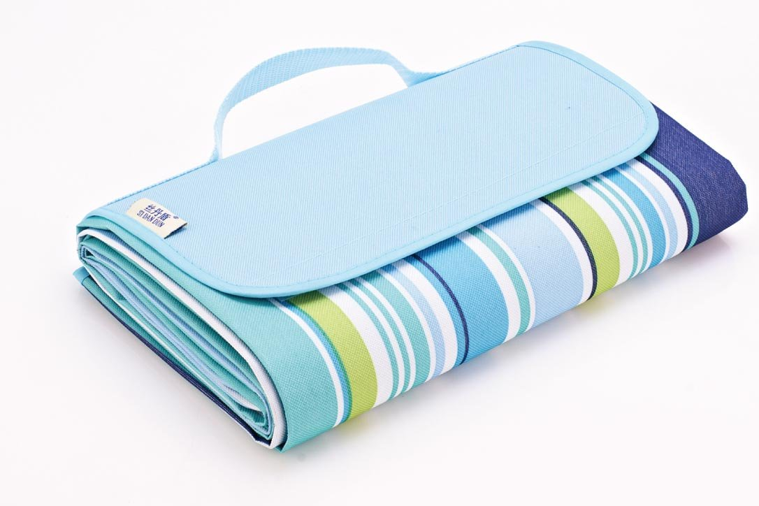 Childmate Outdoor Picnic Blanket Mat Waterproof Beach Blanket Mat For Travelling Camping -79''x 57'' (Blue) by Childmate