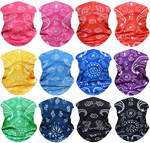 - WONBURY Headband Bandana 12-in-1 Headwear Neck Gaiter Headwrap Balaclava Facemask Helmet Liner - Versatile Sports Casual Multifunctional Seamless for Camping Running Cycling Fishing & Sport