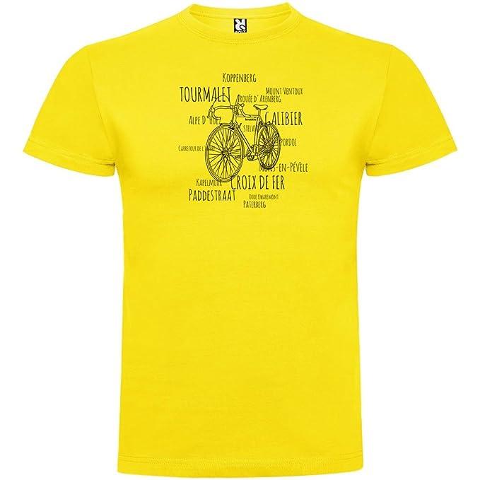 kruskis Camiseta Ciclismo Hotspots Manga Corta Hombre Amarillo S