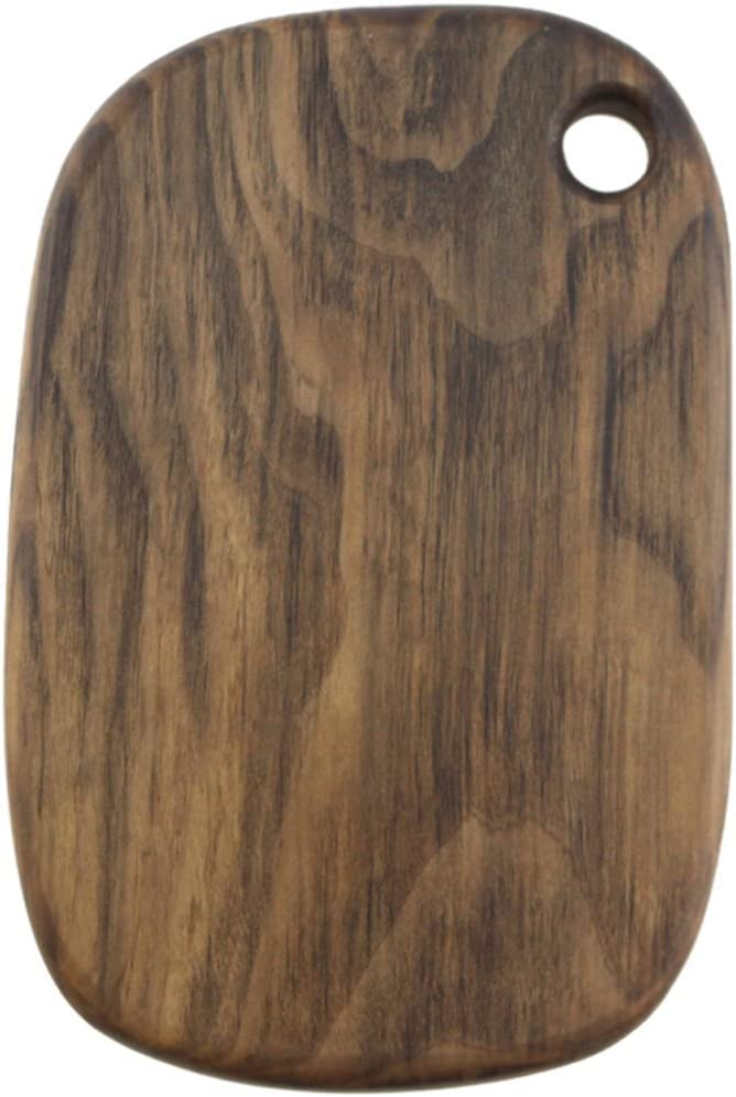 Simple Nature Japanese Style Wooden Black Walnut Boards Without Handle Hanging Cutting Boards Bread Board Sushi Snack And Dish For Food Preparation Serving Tray Handcrafted Decorative