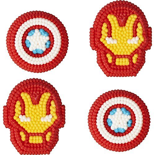 Icing Decorations - Wilton Marvel Avengers Icing Decorations, Multicolor
