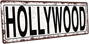 Homebody Accents TM Hollywood Metal Street Sign, Rustic, Vintage