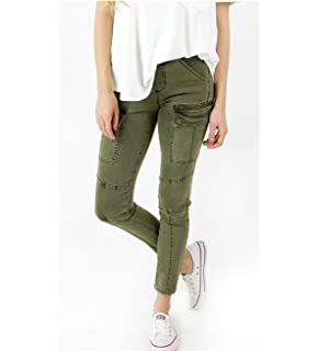 778e2a7e58a Grace and Lace Ladies Skinny Stretch Jeans Cargo Jeggings for Women Olive  Green
