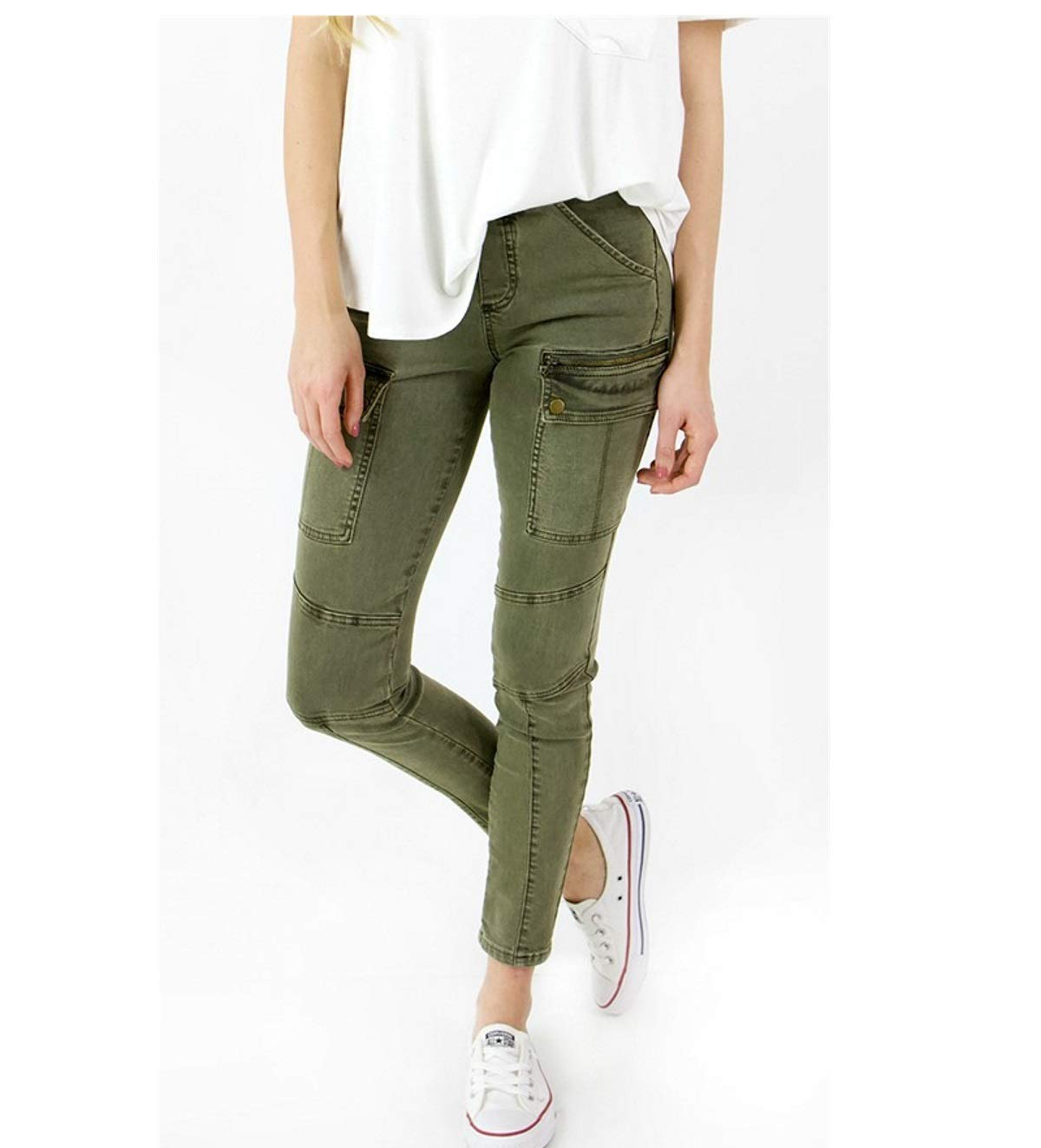 Grace and Lace Women's Cargo Jeggings (Medium)