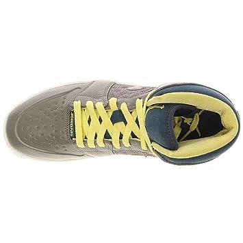 Air Jordan 1 Retro  97 Txt Mens Sneakers Flat Pewter Electric Yellow Squadron  Blue Flat Pewter 555071-045 9.5  Amazon.co.uk  Toys   Games 5e325cf07201