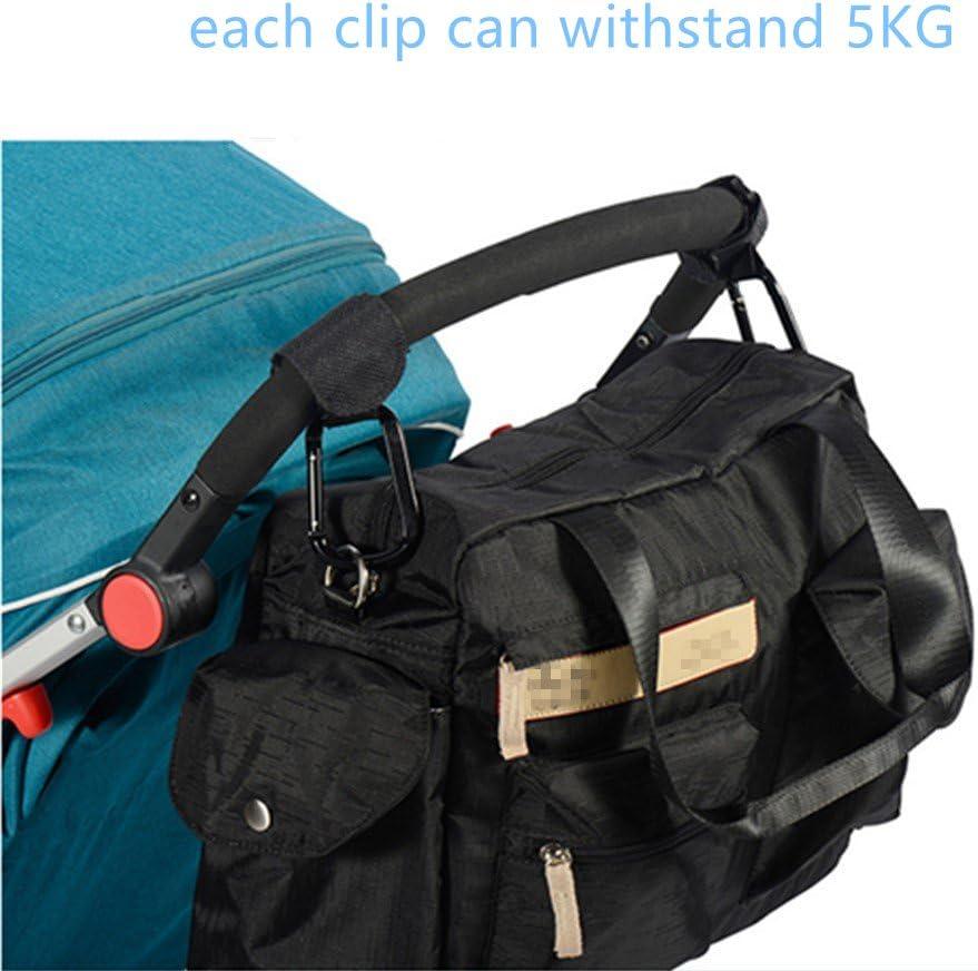 Kinderwagenhaken von Zwinkerfuchs Universale Passform 2erPackung Praktische Karabiner mit denen Sie ganz einfach Ihre Wickeltasche Handtasche oder Einkaufstasche am Kinderwagen befestigen