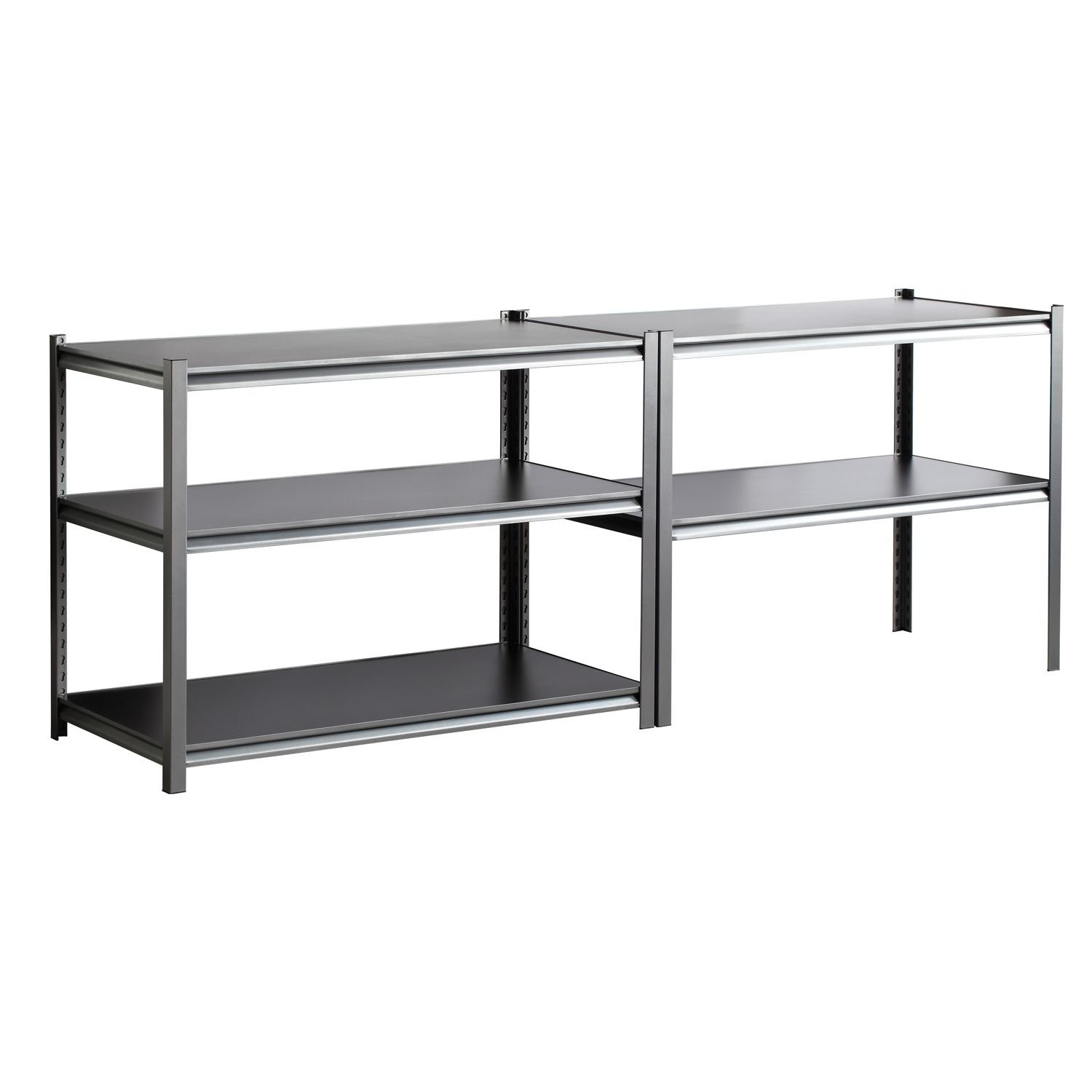 Edsal 5 shelf heavy duty steel shelving - Edsal 5 Shelf Heavy Duty Steel Shelving 1