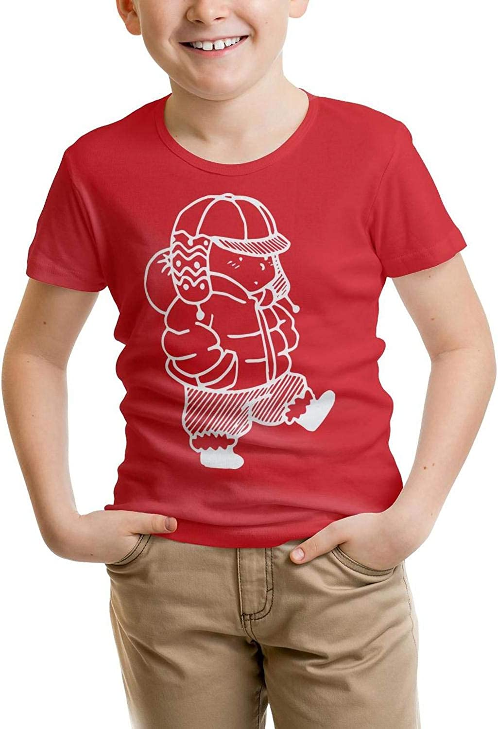 sclDO Concise Pattern Shirt All Cotton Solid for Girls t-Shirt Walking The Dog