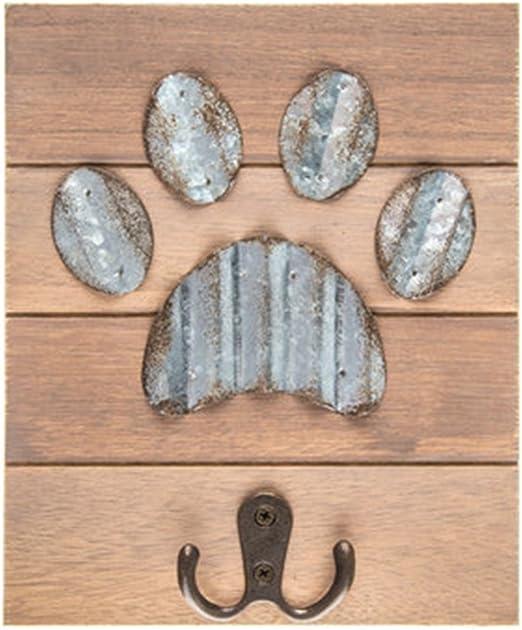 Dog Bone Rail with Paw Prints