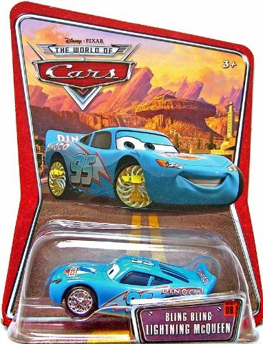 (Disney Pixar Cars Bling Bling Lightning McQueen 1:55 Die-cast)