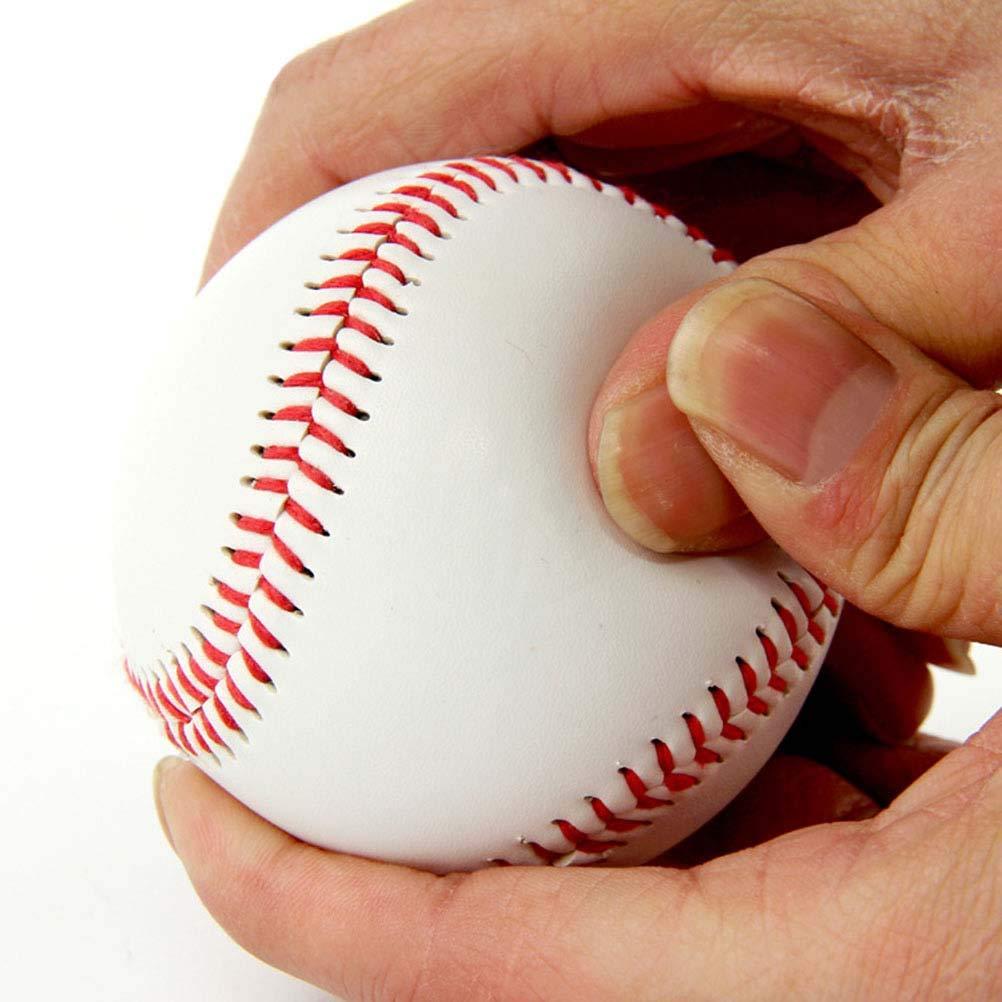 VORCOOL 4pcs Pratique Balle de Baseball Blanche Balle Molle Balle de s/écurit/é de Baseball pour Les Sports de Plein air