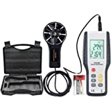 ERAY Digital Anemometer Wind Speed Gauge Professional Air Velocity Flow Volume Meter with Backlight LCD Display, Suitcase and Battery Included