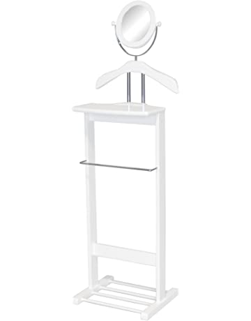 shop amazon valet suit stands Project Board Layout proman products trojan 360 degrees vertical and horizontal swivel mirror and shoe rack in white valet
