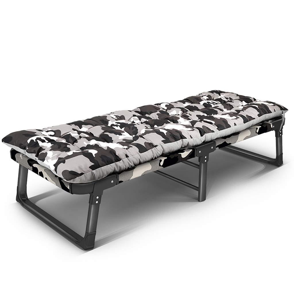 Klappbett Büroschlaf Bett Mittagspause Liege nach Hause einfaches tragbares Outdoor-Camping-Bett