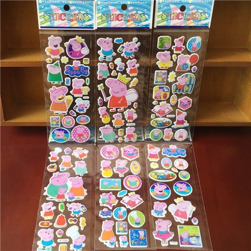 & 10 sheets/lot 3d CartoonKids Stickers Toys Bubble stickers Teacher Lovely Reward Stickers kids gift adhesive