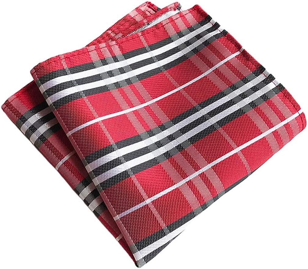 MOHSLEE Mens//Womens Lot 9 PCS Classic Striped Pocket Squares Handkerchiefs Set