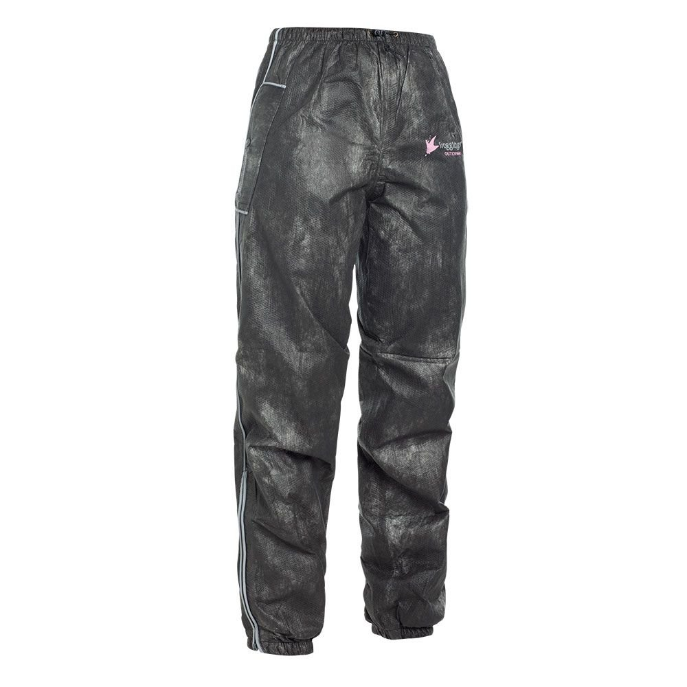 BILT Women's Frogg Toggs Rain Pants - XL, Black
