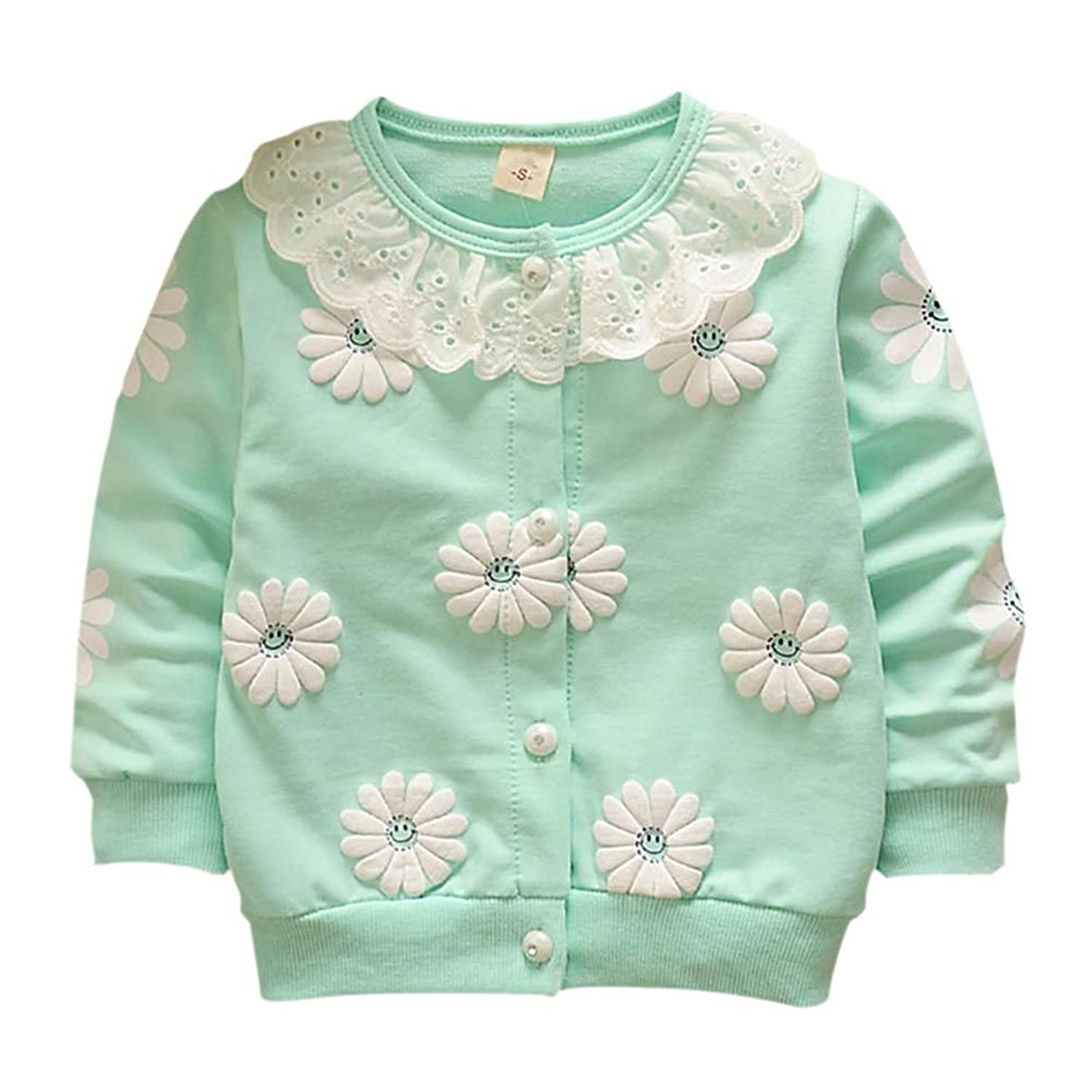 Qlan Baby Girls Long Sleeve Knit Cardigan Warm Outwear Knitwear Winter Soft Knitted for 6-36 Months