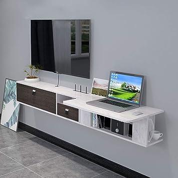 Mueble TV de Pared Escritorio de computadora con Cajon Estante de ...