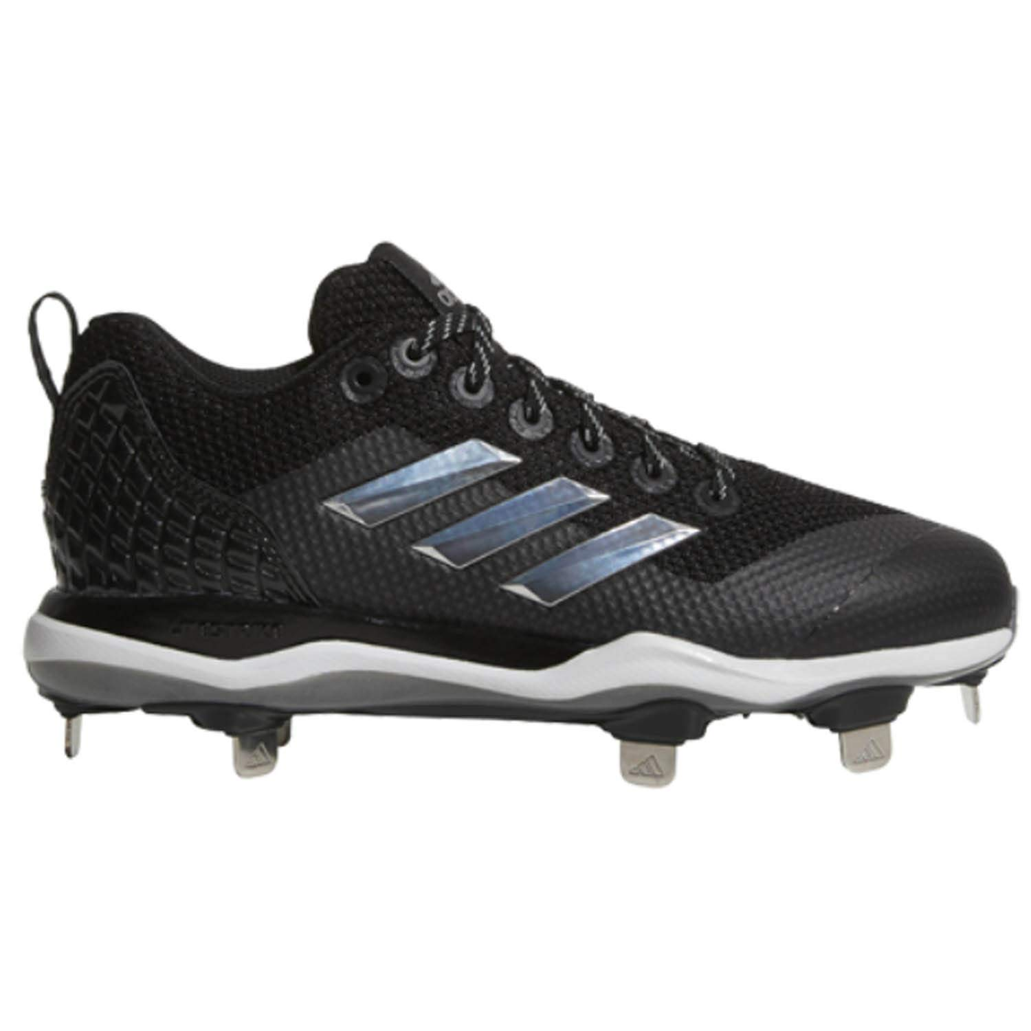 adidas Power Alley 5 TPU Black/SIL/White Baseball Shoes (AQ0248)