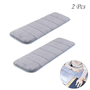 2Pcs Computer Wrist Elbow Pad, MERYSAN Upgraded Wrist Rest Arm Pad(Soft, Anti-Slip), Keyboard Wrist Elbow Support Mat for Office Desktop Working Gaming - Less Elbow Pain (7.9 x 23.6 inch) (Gray)