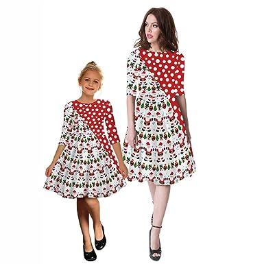 Vestiti Eleganti Mamma E Figlia.Day8 Natale Costumi Uguali Famiglia Mamma E Bambina Uguali Vestiti