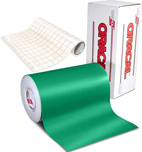 Amazon Com Oracal 631 Matte Green Adhesive Craft Vinyl For Cameo Cricut Silhouette Including Free 12 X 24 Roll Of Clear Transfer Paper 6ft X 12 Arts Crafts Sewing