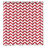 """Shower Curtain For Bathroom With Simple Pink Chevron Zigzag Waterproof Polyester Fabric Curtain 66""""x72"""" Shower Rings Included"""