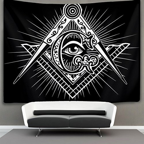 HOMESTORES freemasonry Freemason logo Wall Tapestry Hippie Art Tapestry Wall Hanging Home Decor Extra large tablecloths 50x60 inches For Bedroom Living Room Dorm Room
