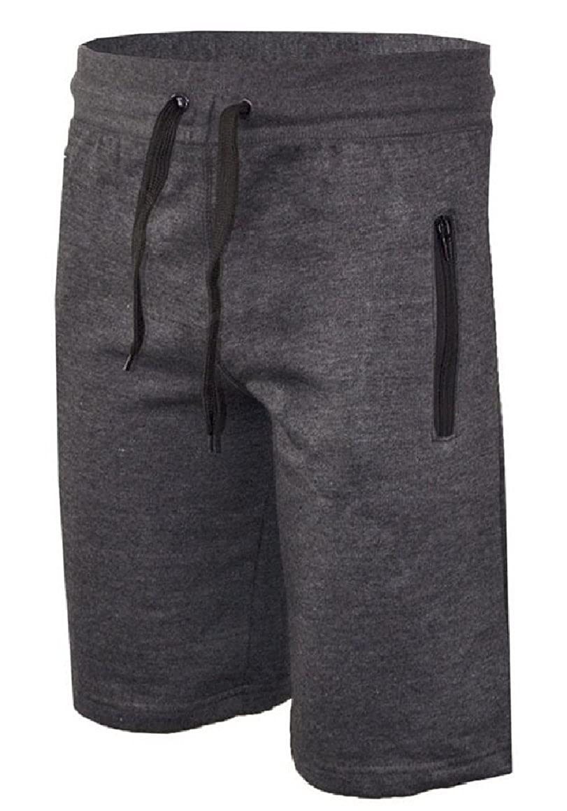 ouxiuli Men Outdoor Sports Quick Dry Gym Running Shorts with Zipper Pockets