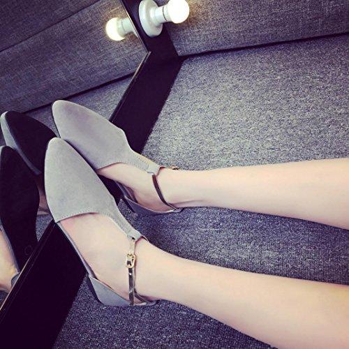 Elevin (tm) Donna Estate Fashion Point-toe Slip-on Flat Flip Sandalo Singolo Fannullone Grigio