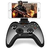 iPhone コントローラー Apple認証 IOS Bluetooth MFi ゲームパッド iPhone, iPad, iPod touch, apple TV対応 「荒野行動に対応できない」(黒)