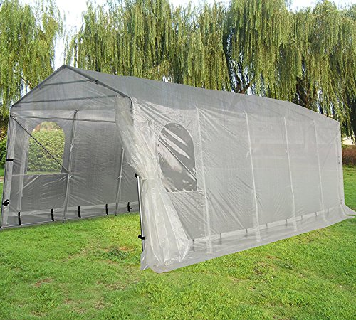 Quictent Snow Shed Suitable for Bad Weather, 20'X11' Heavy Duty Carport Garage Car Shelter with Observation Window