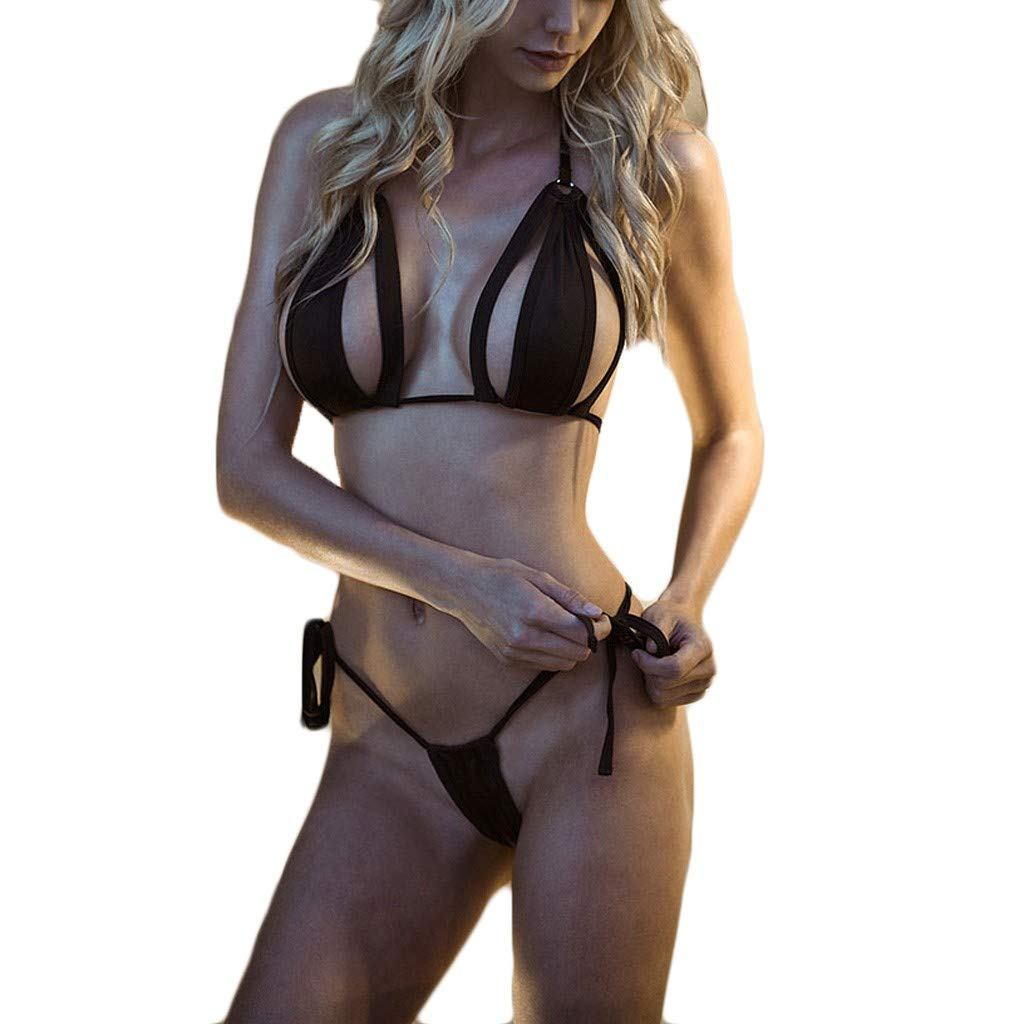 2c2e444881e5 Amazon.com: Women Sexy Lingerie Set with G-String Underwear Chemises V-Neck  Hollow Bodydoll: Clothing