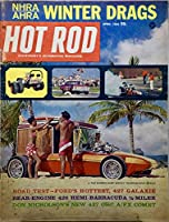 1965 - April - Vintage Hot Rod Magazine - George Barris Surf Woody / NHRA & AHRA Winter Drags / Hemi Under Glass + more - OOP - Rare
