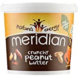 Meridian Natural Crunchy Peanut Butter 1 Kg (Pack of 2)