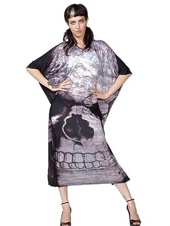 Amazon Killstar Black Skull Boho Maxi Dress Large Clothing